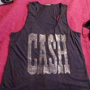 Johnny Cash Womens Tank, Size XL